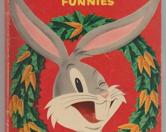 Dell Giant Bugs Bunny's Christmas Funnies; Vol 1, 2, Golden Age Comic Book. VG- (3.5). November 1951. Dell Comics