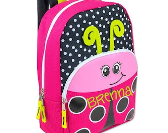 Personalized Girls' Ladybug or Boy's Shark Backpack 16 inch