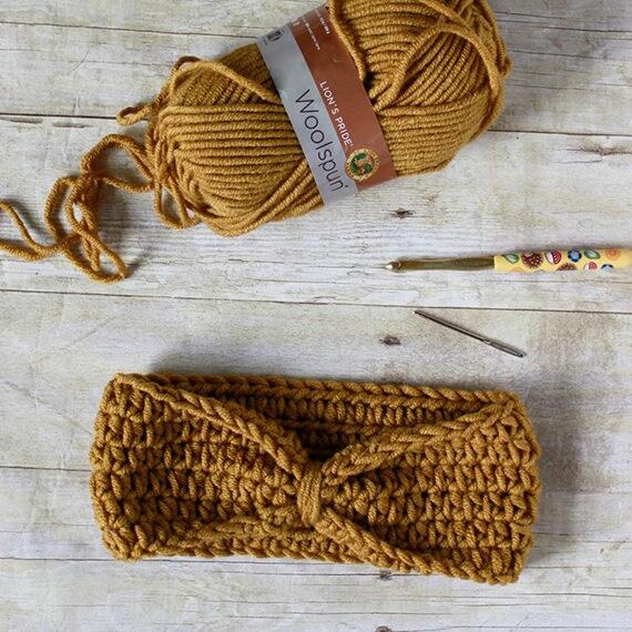 PDF Crochet Pattern - Knotted Headband - 2 Sizes - Women & Child - Earwarmer - Modern