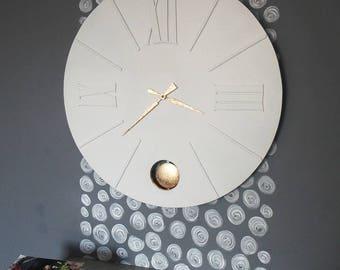 large white pendulum clock Precious