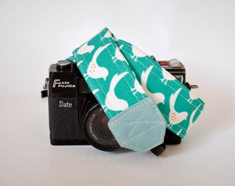 Gift for bird lover, green camera strap, adjustbable camera strap, birds camera strap