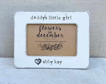 Father's Day gift for dad Daddy's little girl personalized picture frame gift from child Dad from daughter - Flowers in December DS