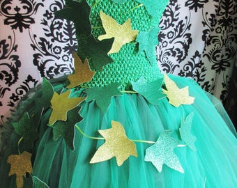 Adult Poison Ivy tutu dress/Fully lined adult tutu/Adult halloween tutu/Adult Halloween costume/Poison Ivy Costume/Poison Ivy tutu dress