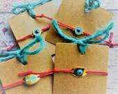 Evil Eye Bracelet, Mati Bracelet, Greek Bracelet, Marti Bracelet, Red String Bracelet, Cross Bracelet, Minimal Bracelet, Adjustable Bracelet