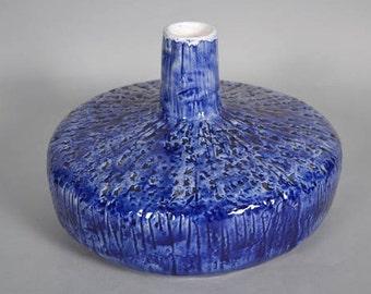 Very rare J. F. Belarti blue glazed vase - V4  - Mid Century