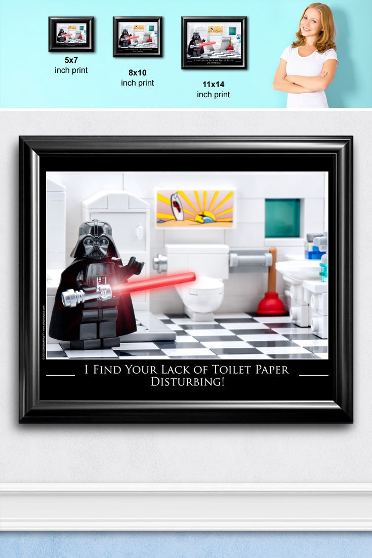 Funny Bathroom Signs Bathroom Wall Art Star Wars Lego 174 Art