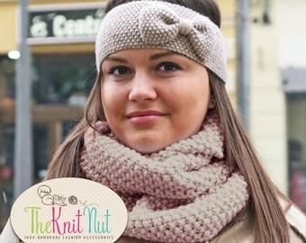 Hand Knitted Winter Headband, Girl's Ear Warmer, Women's Winter Accessory Knit Head Wrap, Knitted Ear Warmer, Knit Hair Wrap