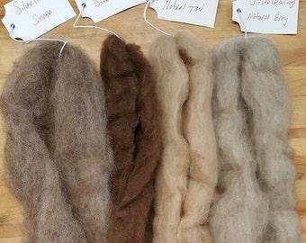 New Zealand Merino/Cross bred Silver Wool Roving Bundle 100% virgin wool roving Combed top Wool.Felting-Spinning-Rug hooking-Needle felt