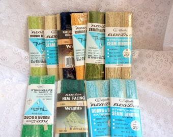 Set of  2 vintage Stretch Seam Binding, Stretch Lace Seam Binding, Flexi-Lace, Stretch Hem Facing