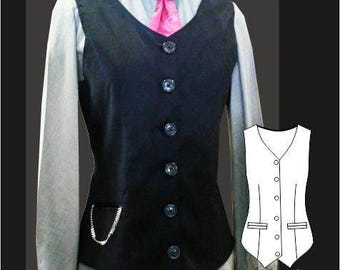 Sara Ladies Waistcoat Sewing Pattern
