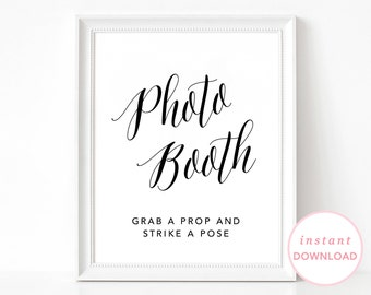 Wedding Photo Booth Poster, Photo Booth Sign, Wedding Reception Sign, Wedding Photo Sign, Printable Photo Booth, Wedding Booth Poster
