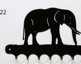 Keys hanging metal pattern: elephant