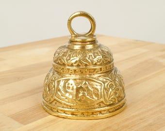 Sanctuary bell || Vintage Solid Brass || Buckfast Abbey Souvenir