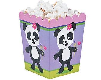 My Sweet Panda Party  Popcorn Box / Panda party Theme / Panda Theme/ Panda / Panda favor boxes/ treat boxes/ Popcorn boxes