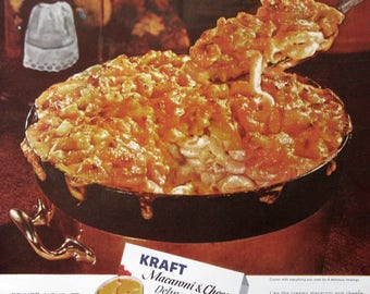 1961 Kraft Macaroni & Cheese Ad - 1960s Nostalgic Food Advertising