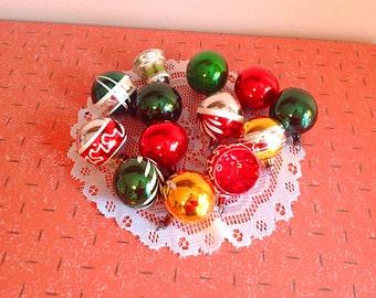 Vintage Christmas tree ornaments, Gorgeous set of vintage glass Christmas tree ornaments