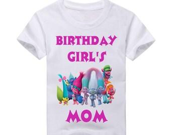 Trolls Birthday Shirt for Mom.  2nd Birthday 3rd Birthday 4th Birthday 5th Birthday birthday 6th Birthday