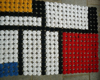 decorative textile panel inspired by mondrian