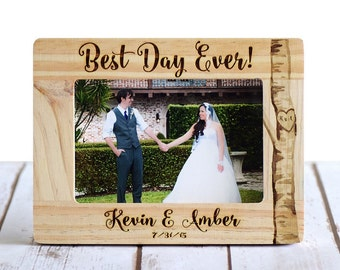 Wedding Frame, Custom Wedding Frame, Wedding Gifts, Personalized wedding gifts, gifts for couple, rustic frame, rustic wedding, 4x6 frame