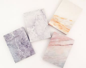 Marble Memo Pad (112 Sheets x 1 pc) Korean Stationery MInimalist Paper Notepad