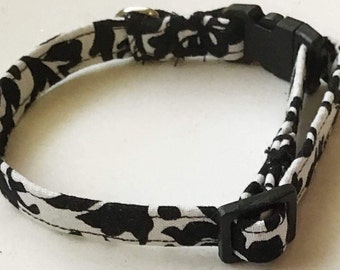 Black and White Damask Girl Dog or Cat Collar