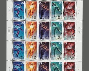 Set of 20 1994 29c Winter Olympics Postage Stamps Olympic Games Stamp Scott 2807 2808 2809 2810 2811