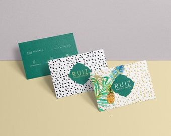 Ruiz double sided business card - Instant download