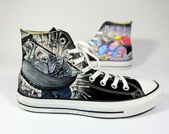 Tokyo Ghoul Inspired Converse Manga Anime Custom Painted  Sneakers Womens Mens Shoes Personalized Gifts Mens Womens Gift for Daughter