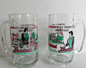 Graceland Elvis Mugs Vintage 1960s