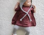 Baby Oversized Tee, Peplum Tee tee, Modern Baby Clothing, Crandberry