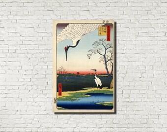 Japanese Print, Andō Hiroshige, Japanese Art, Old Masters Fine Art Print : minowa kanasugi, Classical Art Iconic Landscape
