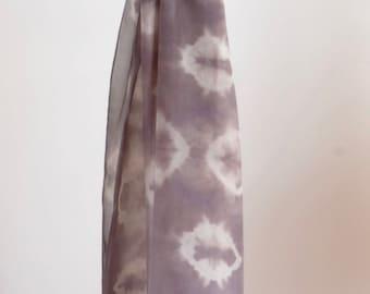 Natural Dye Silk Scarf - 45 x 180 cm - C1S004