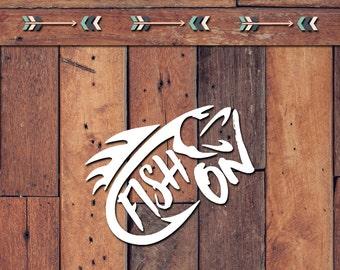 Fish On Decal | Yeti Decal | Yeti Sticker | Tumbler Decal | Car Decal | Vinyl Decal