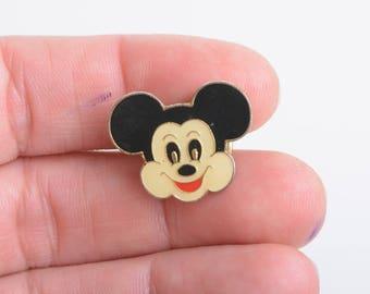Mickey face lapel pin, Disney lapel pin, lapel pin button, lapel pin