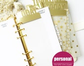 PERSONAL SIZE planner page marker : gold foil edition (today, this week, this month)
