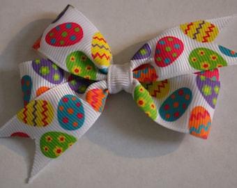 Easter Hair Bow, Easter Egg Hair Bow, Egg Hair Bow, Easter Egg Hair Bow