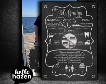 Infographic Christmas Card Annual Family Report by helloHazen