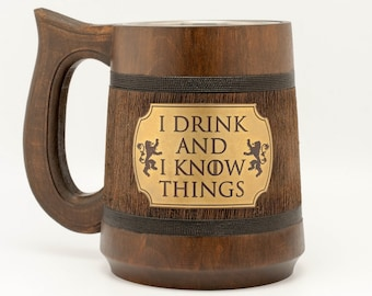 I drink and I know things Game of Thrones Mug  Game of Thrones Gift Tyrion Lannister inspired