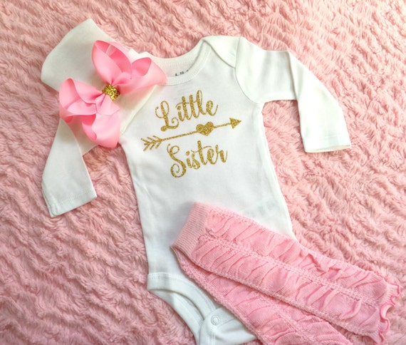 Little sister outfit baby girl coming home by ...