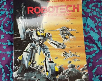 90's Book ~ Robotech ~ The Role Playing Book ~ Book One ~ Macross ~ Directions ~ Kevin Siembieda ~ Character Game Play ~ My Nostalgic Life