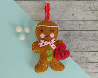 Funny gift for ginger - Fathers Day gift - felt gingerbread man - red hair gift - gift for redhead - ginger hair gift - ginger whinger