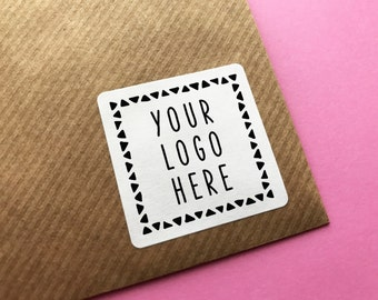 Custom Logo Stickers, Square Logo Stickers, Customized Stickers, Square Labels, Business Labels, Planner Stickers, Custom Wedding Stickers