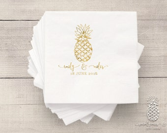Wedding Party Napkins | Personalized Napkin | Pineapple Napkins | social graces Co.