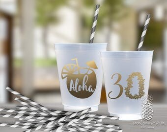 Luau Party | Aloha Birthday Cups | social graces Co.