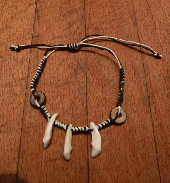 Wolf Tooth Bracelet Wolf Teeth Bracelet Wolf Bracelet Tribal Wolf Tooth Bracelet Adjustable African Native American Tribal Spiritual Healing