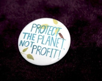 "Climate Change Pin // 1.25"" Round"