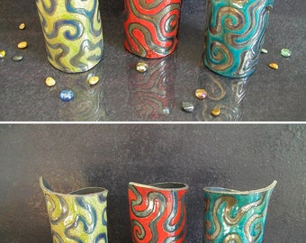 raku ceramic vase set, pencil cup, coastal decor, pottery vase, decorative vase, wedding vase, ceramic penholder, italian vase, raku vase