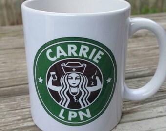 Nurse's Starbucks 11 oz coffee mug