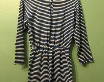 Winona dress- blue striped dress
