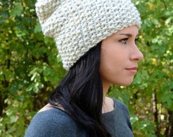 The Ashland Beanie ∙ Slouchy Textured Beanie ∙ Wheat ∙ Warm Winter Hat